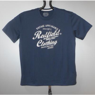 Redfield SHIRT KS blauw print