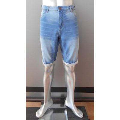 Luciano KS heren stretch denim bermuda Bleached
