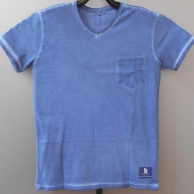 Foto van Brams Paris FELIP t-shirt V-hals Blue