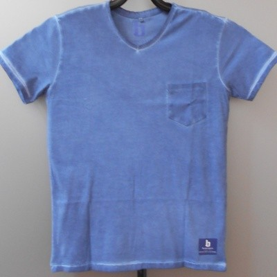 Brams Paris FELIP t-shirt V-hals Blue