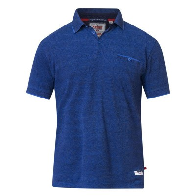 D555 BRELL KS polo pique in Navy