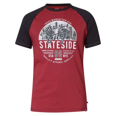 D555 JARVIS KS t-shirt Red met print