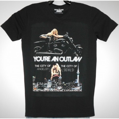 Foto van American Joggs T-SHIRT print: YOU`RE AN OUTLAW
