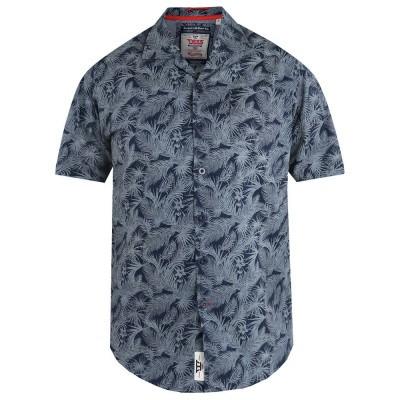 D555 LANCE KS overhemd Hawaiian leaf print Navy