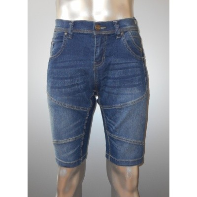 Return FABIAN stretch denim short Mid blue
