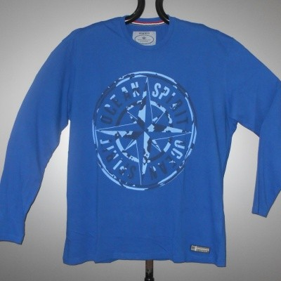 Redfield T-SHIRT KS l.m. print Cobalt