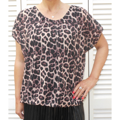 Made in Italy TOP luipaard print