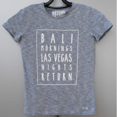 Return DUKE shirt melee blue met witte print