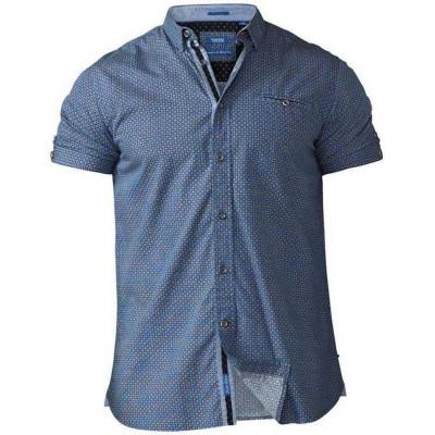 D555 LIMBURG KS Overhemd korte mouwen Blue