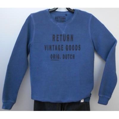 Foto van Return EWALD sweater met print in Blue