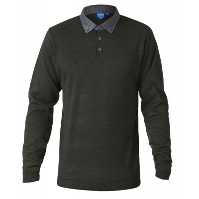 D555 BENNET KS polo-sweater l.m. Khaki