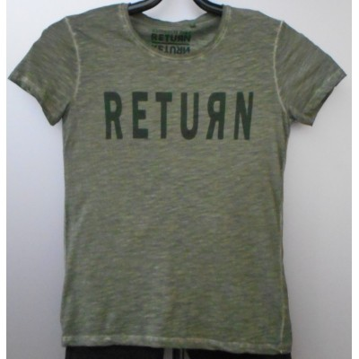 Foto van Return ELOY t-shirt oil dye Green