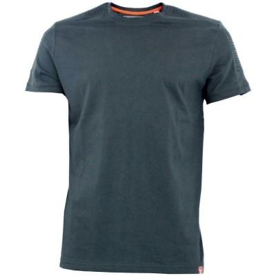 D555 CALLUM KS shirt black met ribbed panels op schouders
