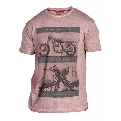 D555 ROY KS t-shirt print Rust
