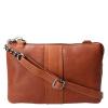 Afbeelding van Schoudertas Leather Design HB 531 Cognac