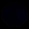 Afbeelding van Knirps Paraplu T.703 Stick Automatic Zwart/Wit gestippeld