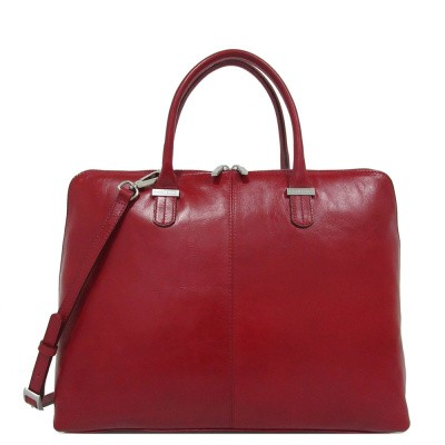 Foto van Laptoptas Claudio Ferrici Classico Workbag 15.6'' Red