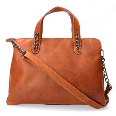 Foto van Hand/Schoudertas Leather Design HB 758 Cognac