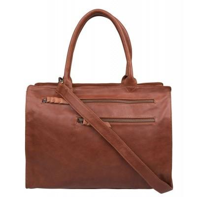 Cowboysbag Laptop Bag Norwich 15.6 inch 1917 Cognac