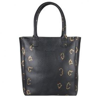Foto van Shopper Cowboysbag Quartz 3062 13 Inch Snake Black & Gold