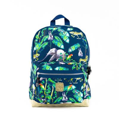 Kinderrugtas Pick & Pack Happy Jungle M Navy