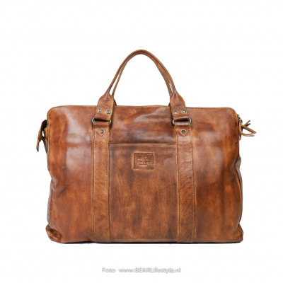 Foto van Laptoptas Bear Design Alex CL 36821 Cognac