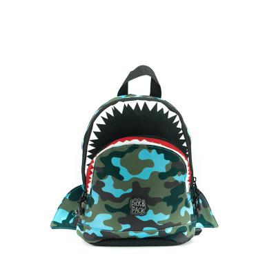 Foto van Kinderrugtas Pick & Pack Shark Shape S Camo Light Blue