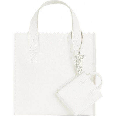 Foto van Hand/Schoudertas Myomy My Paper Bag Square Mini 3651 Off White