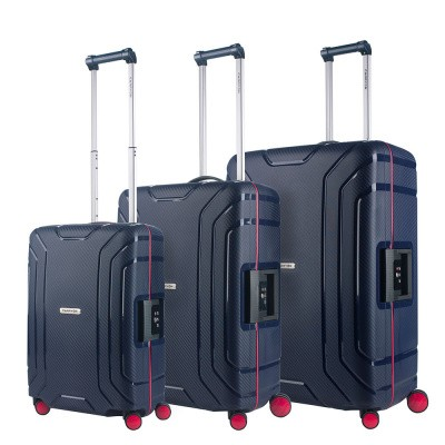 Foto van CarryOn Trolleyset 3pcs Steward Dark Blue