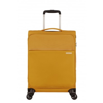 Handbagage American Tourister Lite Ray Spinner 55 golden yellow