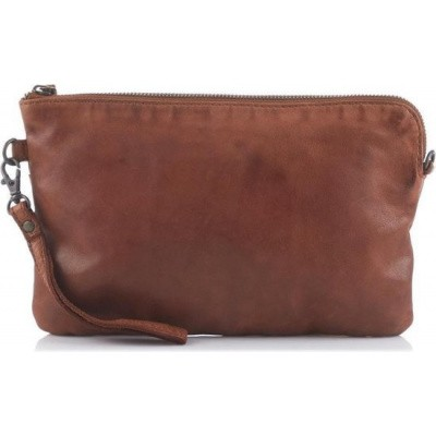 Schoudertas/Clutch Bear Design Dori Cognac