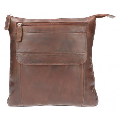Heren Schoudertas Leather Design AL 53 Bruin