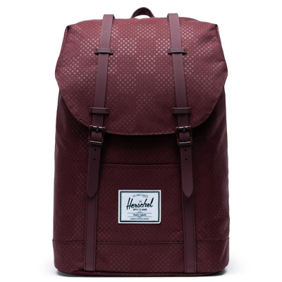 Foto van Rugtas Herschel Retreat Plum Dot Check