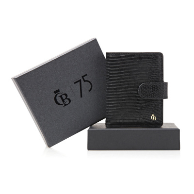 Foto van Giftbox Castelijn & Beerens mini wallet 80 0856 Zwart