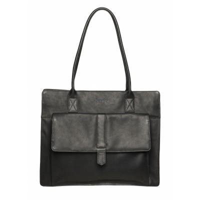 Foto van DSTRCT Wax Lane Shopper with Laptop Compartment black