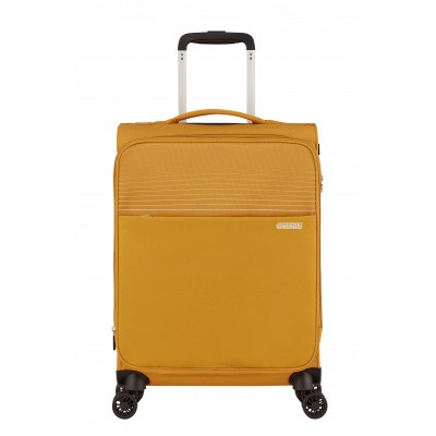Foto van Handbagage American Tourister Lite Ray Spinner 55 Expandable golden yellow