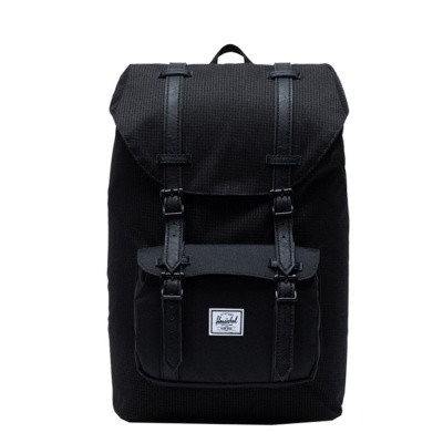 Foto van Rugtas Herschel Little America Mid Volume Dark Grid/Black