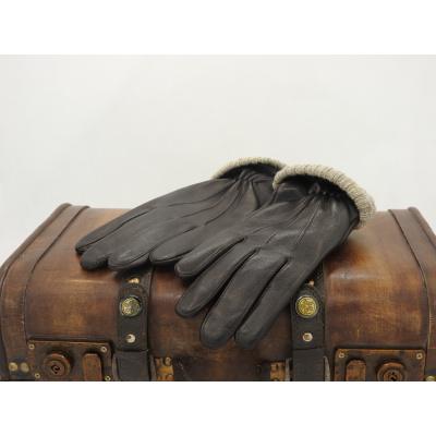 Foto van Leren Herenhandschoenen Glove Story met polyester voering Bruin