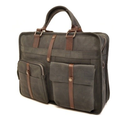 Foto van Barbarossa Ruvido Double Section Businessbag Pine