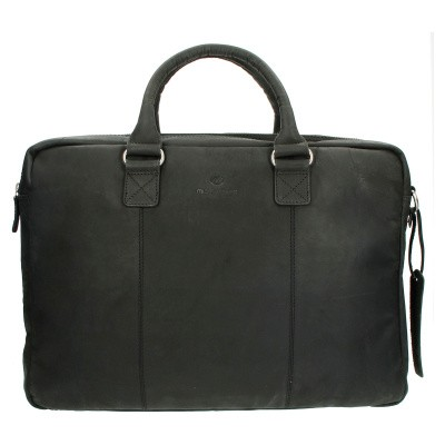 Micmacbags Oklahoma Laptoptas 17,3 inch Black