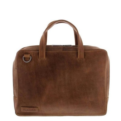 Plevier Business/laptoptas 2 vaks 14 inch Cognac