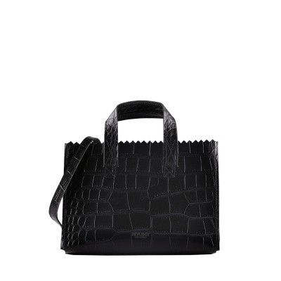Foto van Mini Handtas Myomy MY PAPER BAG Mini handbag cross­body ­croco Black