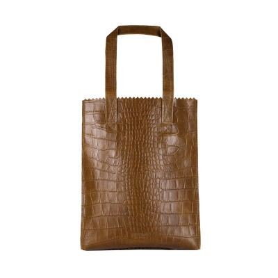 Foto van Shopper Myomy MY PAPER BAG Long handle zip ­croco original