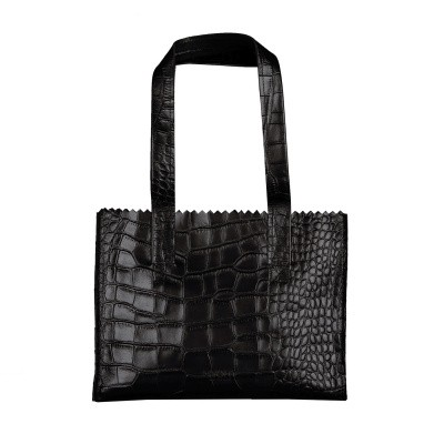 Foto van Handtas Myomy MY PAPER BAG Handbag ­croco Black