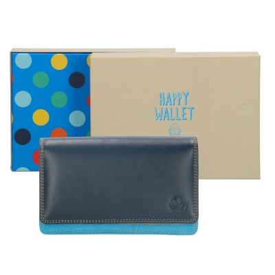 Portemonnee Happy Wallet in giftbox 18360 Blauw