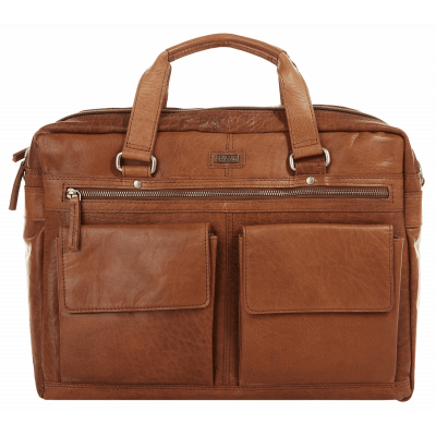 Laptoptas Spikes & Sparrow Bronco L 15.6'' cognac