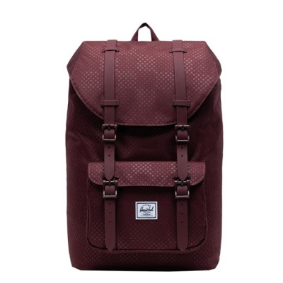 Foto van Rugtas Herschel Little America Mid Volume Plum Dot Check