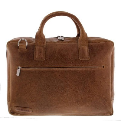 Plevier Business/laptoptas 2 vaks 17,3 inch 485 Cognac