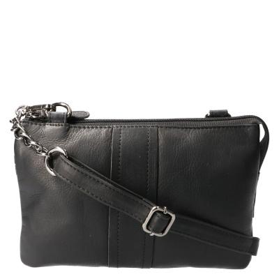 Schoudertas Leather Design HB 531 Zwart