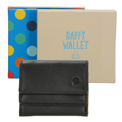 Happy Wallet Rainbow Portemonnee 18363 Zwart